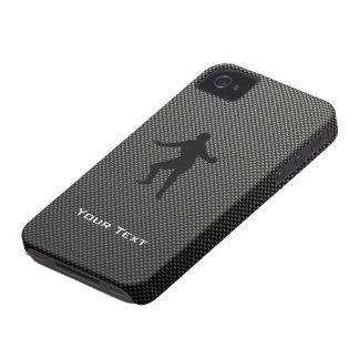 Carbon Fiber look Fencing Silhouette iPhone 4 Case-Mate Cases