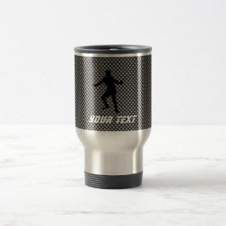 Carbon Fiber look Fencing Silhouette Coffee Mugs