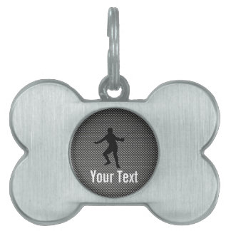 Carbon Fiber look Fencing Silhouette Pet ID Tag