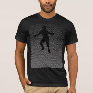 Carbon Fiber look Fencing Silhouette T-Shirt