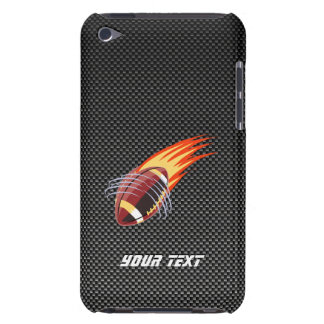Carbon Fiber look Flaming Football iPod Case-Mate Case