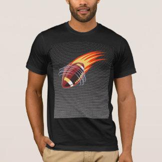 Carbon Fiber look Flaming Football T-Shirt