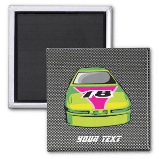 Carbon fiber look Nascar 2 Inch Square Magnet