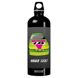 Carbon fiber look Nascar Aluminum Water Bottle