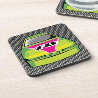 Carbon fiber look Nascar Drink Coasters