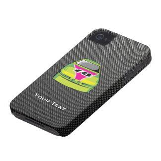 Carbon fiber look Nascar iPhone 4 Cover