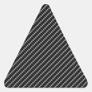 Carbon Fiber Look Triangle Sticker
