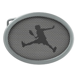 Carbon Fiber look Tennis Belt Buckle