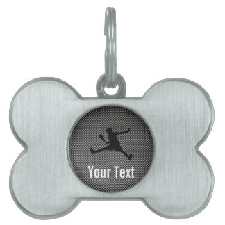 Carbon Fiber look Tennis Pet ID Tags