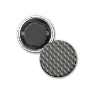 Carbon Fiber Material 1 Inch Round Magnet