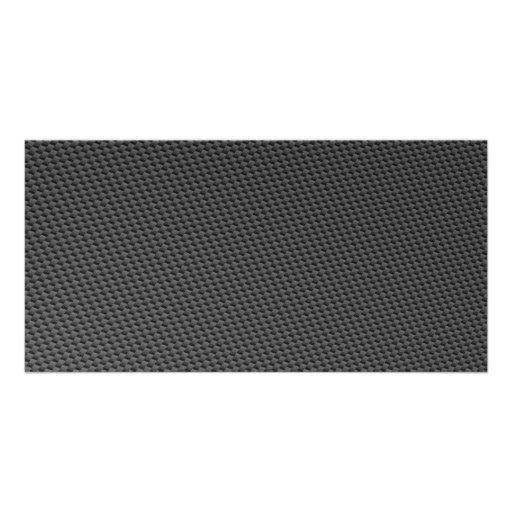 Carbon Fiber Material Photo Card