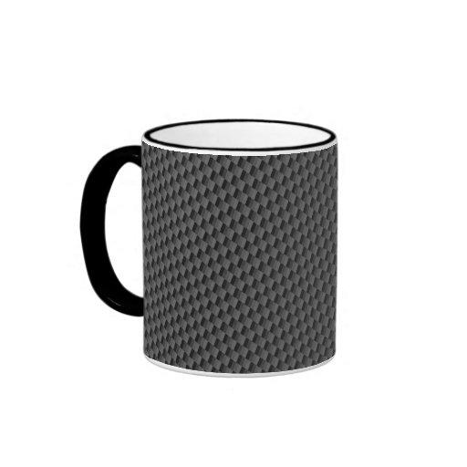 Carbon Fiber Material Ringer Coffee Mug