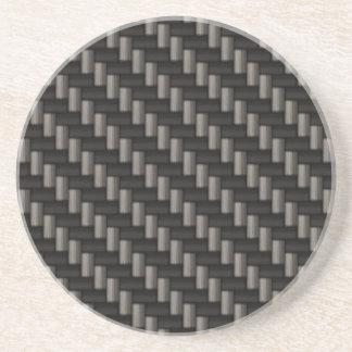 Carbon Fiber Material Sandstone Coaster