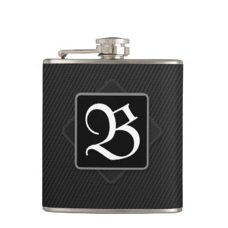 Carbon Fiber Monogram Flask