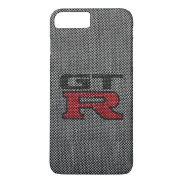 Beach Themed Carbon Fiber Nissan GT-R iPhone 8 Plus/7 Plus Case