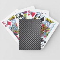 Carbon Fiber Pattern Bicycle Playing Cards