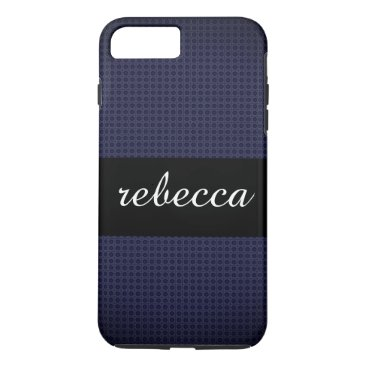 Beach Themed carbon fiber pattern blue iPhone 8 plus/7 plus case