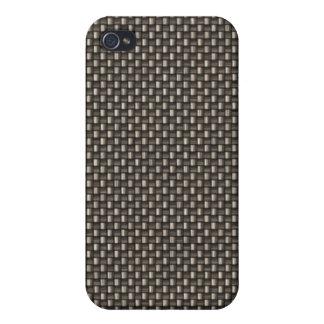 Carbon Fiber Pattern (Faux) Cases For iPhone 4