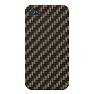 Carbon Fiber Pattern (faux) iPhone 4/4S Case