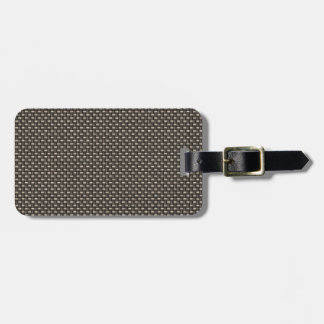 Carbon Fiber Pattern (Faux) Tag For Luggage