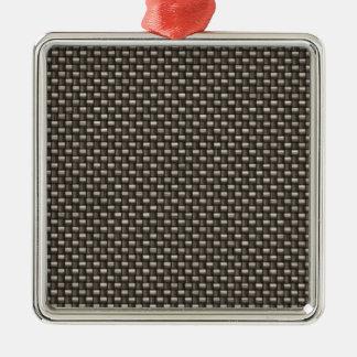 Carbon Fiber Pattern (Faux) Metal Ornament