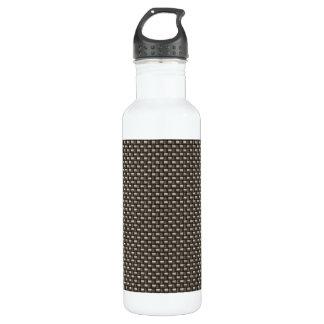 Carbon Fiber Pattern (Faux) 24oz Water Bottle