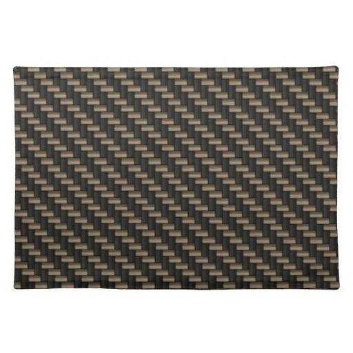 Carbon Fiber Pattern (faux) Placemats