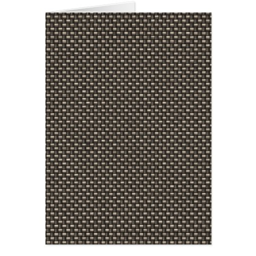 Carbon Fiber Pattern (Faux) Stationery Note Card