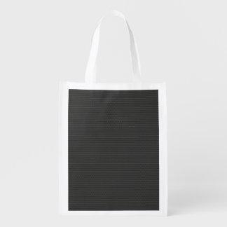 Carbon fiber Pattern Grocery Bag