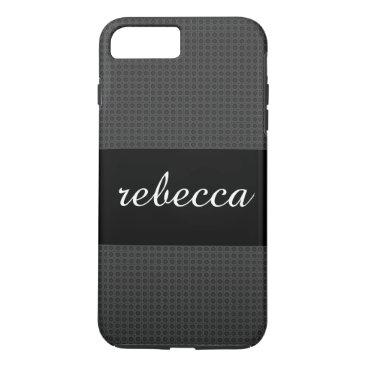 Beach Themed carbon fiber pattern iPhone 8 plus/7 plus case