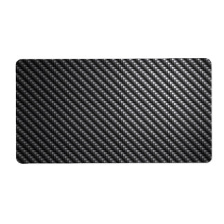 Carbon Fiber Pattern Personalized Shipping Label