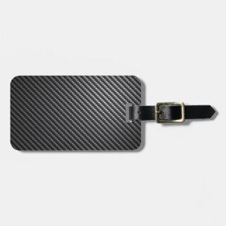 Carbon Fiber Pattern Luggage Tag
