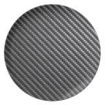 Carbon Fiber Pattern Melamine Plate