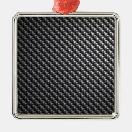 Carbon Fiber Pattern Metal Ornament