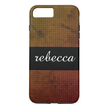 Beach Themed carbon fiber pattern orange grungy iPhone 8 plus/7 plus case