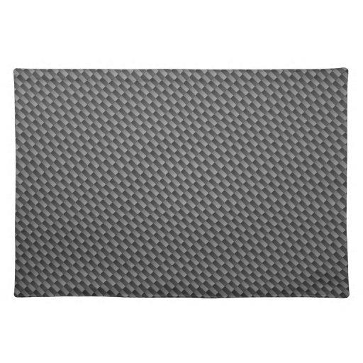 Carbon Fiber Pattern Place Mat
