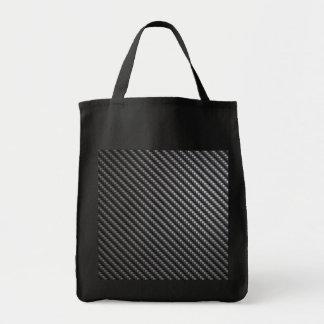 Carbon Fiber Pattern Tote Bag