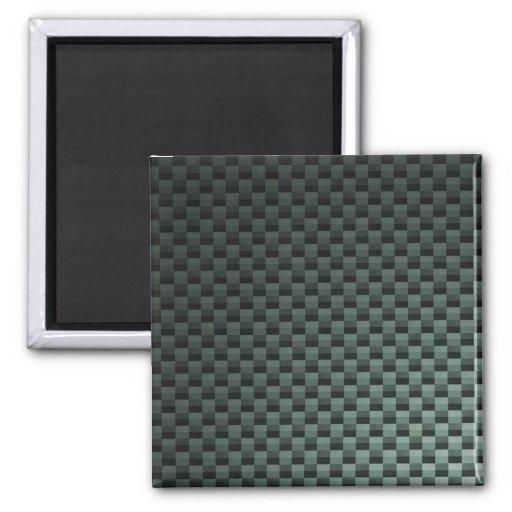 Carbon Fiber Patterned 2 Inch Square Magnet