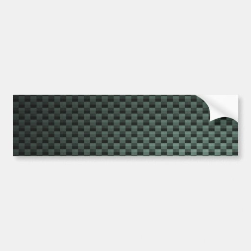 Carbon Fiber Patterned Bumper Stickers