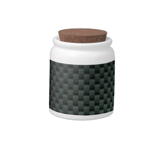 Carbon Fiber Patterned Candy Jar
