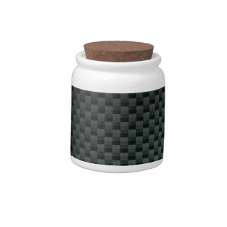 Carbon Fiber Patterned Candy Jars