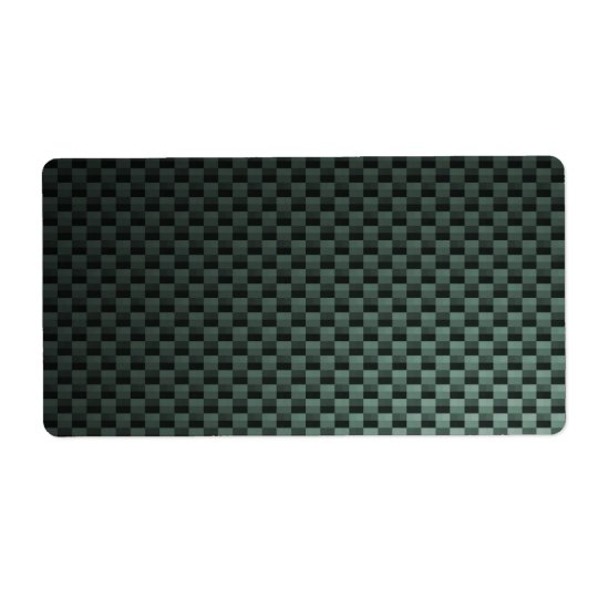 Carbon Fiber Patterned Label