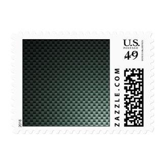 Carbon Fiber Patterned Postage Stamps