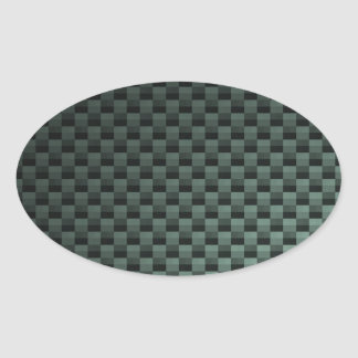 Carbon Fiber Patterned Oval Stickers