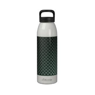 Carbon Fiber Patterned Reusable Water Bottle
