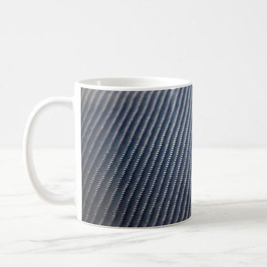 Carbon Fiber Photo Textured Coffee Mug