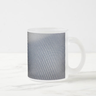 Carbon Fiber Photo Textured Frosted Glass Coffee Mug
