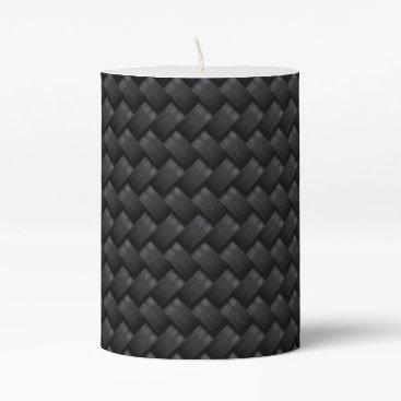 USA Themed Carbon fiber pillar candle