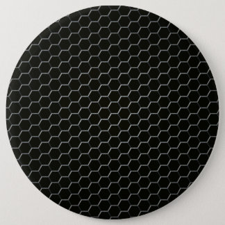 Carbon-fiber-reinforced polymer pinback button