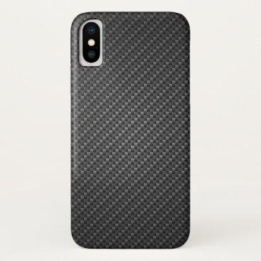 Beach Themed Carbon-fiber-reinforced polymer Texture iPhone X Case